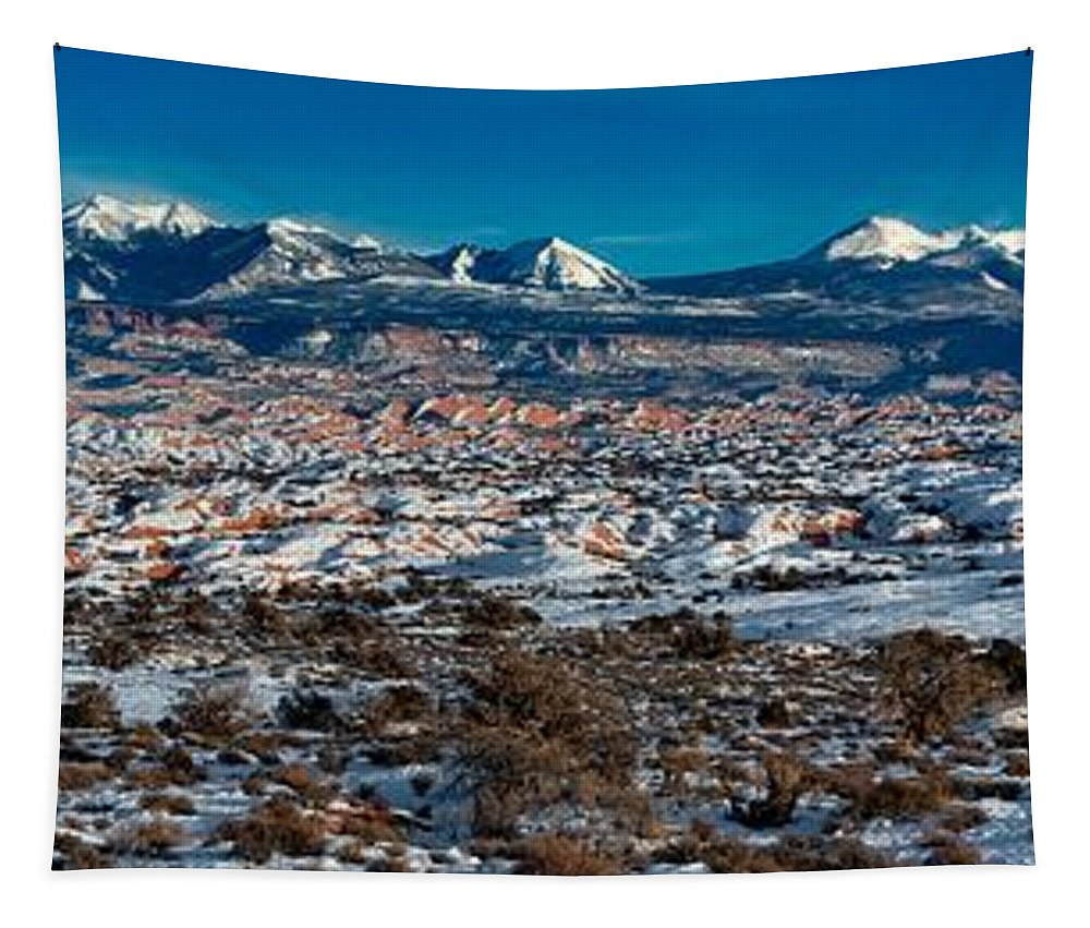 Arches National Park Tapestry featuring the photograph Winter In Arches National Park by Jacob Frank