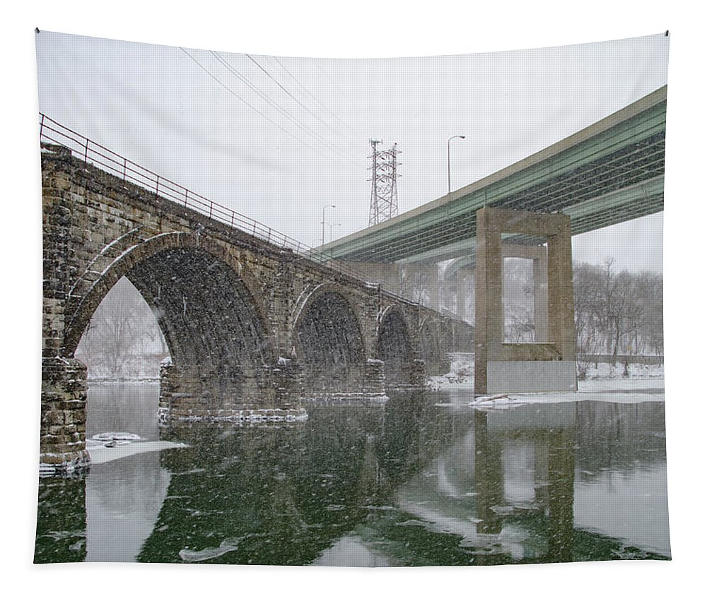 Winter Tapestry featuring the photograph Winter In East Falls Along The Schuylkill River by Bill Cannon