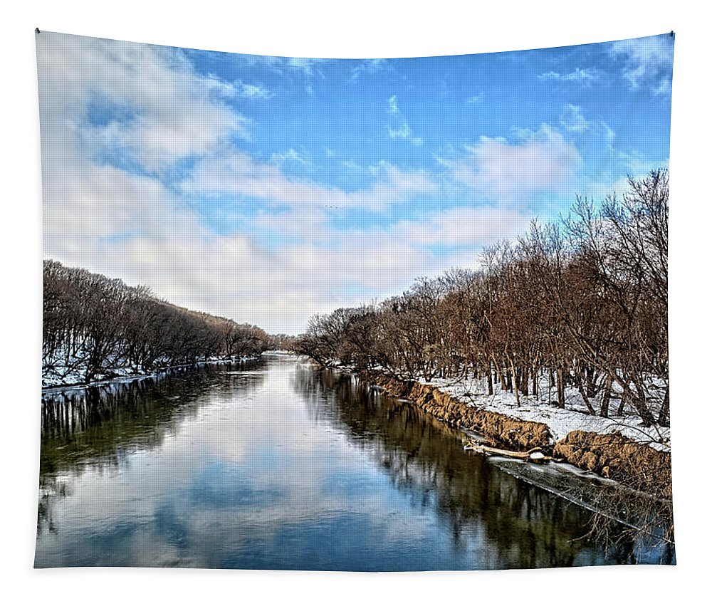 River Tapestry featuring the photograph Winter On The Cedar by Bonfire Photography