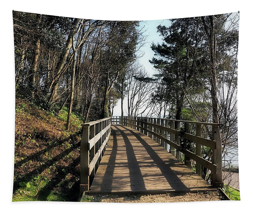 Shadows Tapestry featuring the photograph Winter Shadows At The Bridge by Susie Peek