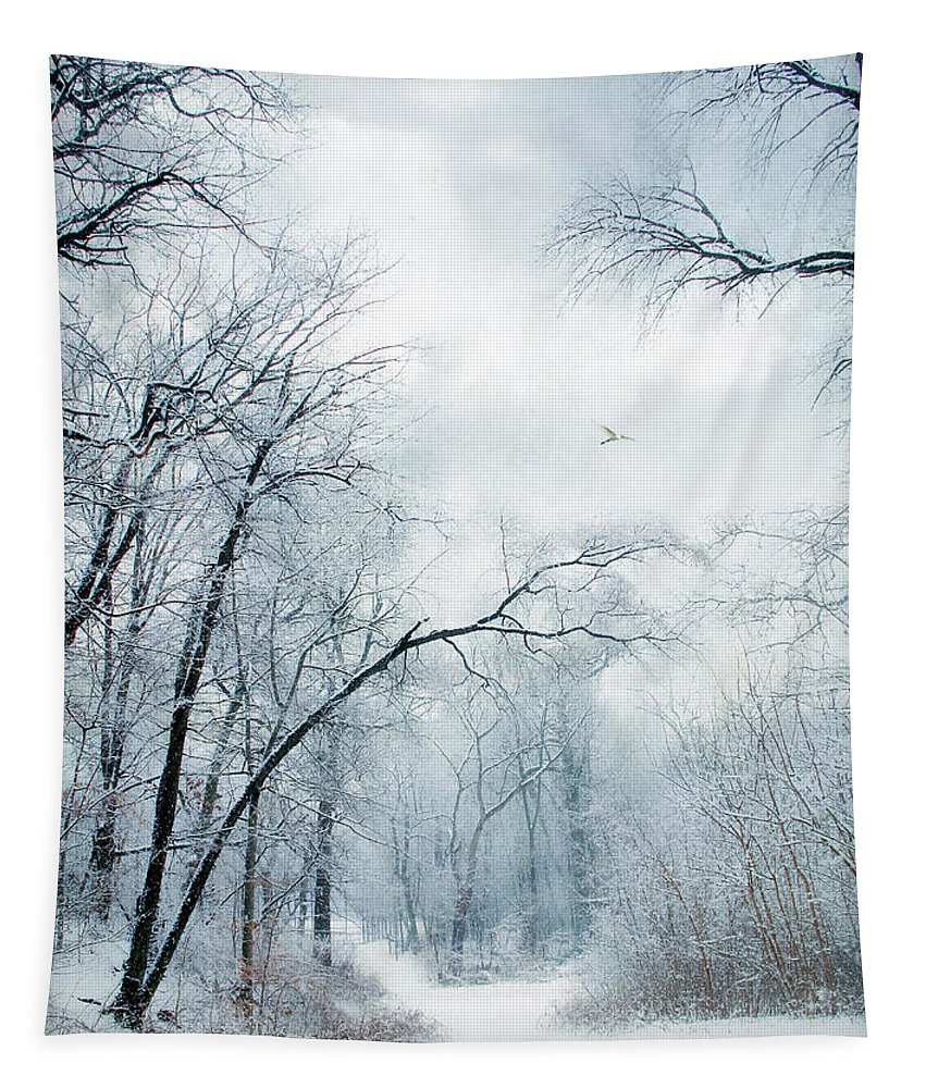 Winter Tapestry featuring the photograph Winter's Cloak by Jessica Jenney