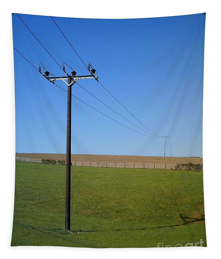 Wires Tapestry featuring the photograph Wires by Richard Brookes