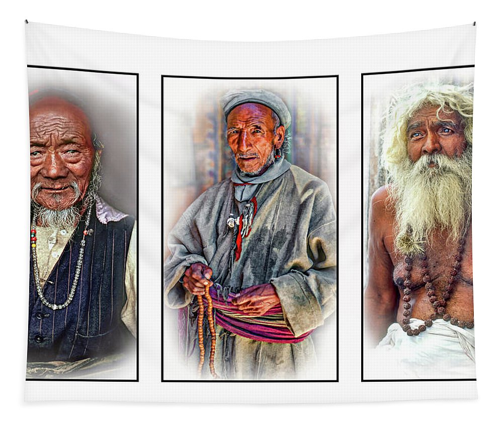 Holy Man Tapestry featuring the photograph Wisdom - Such A Long Journey 3 by Steve Harrington