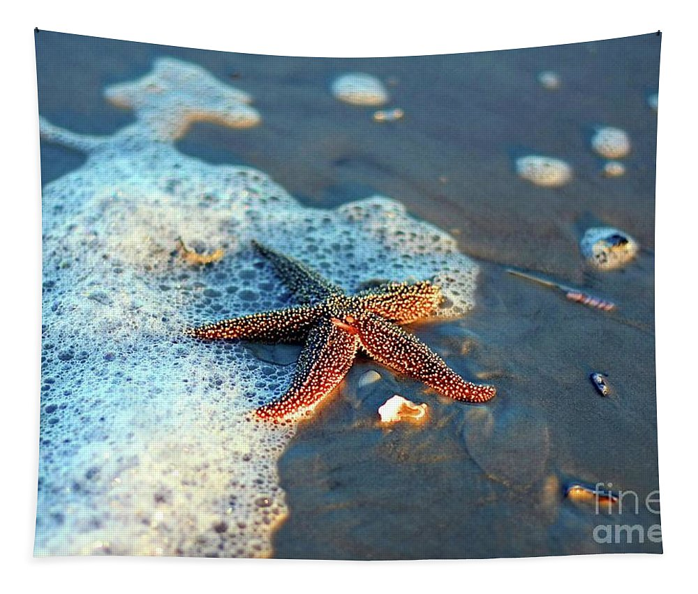 Starfish Tapestry featuring the photograph Wish Upon A Star by Davids Digits