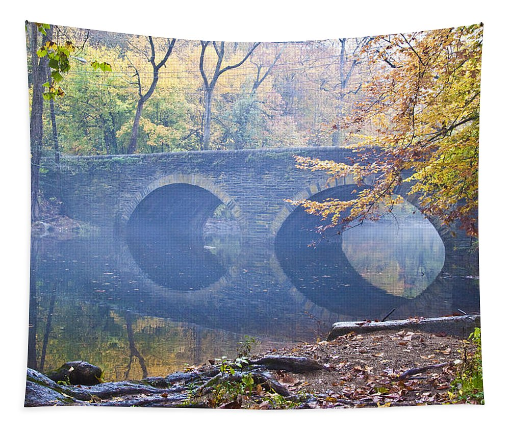Wissahickon Tapestry featuring the photograph Wissahickon Creek At Bells Mill Rd. by Bill Cannon