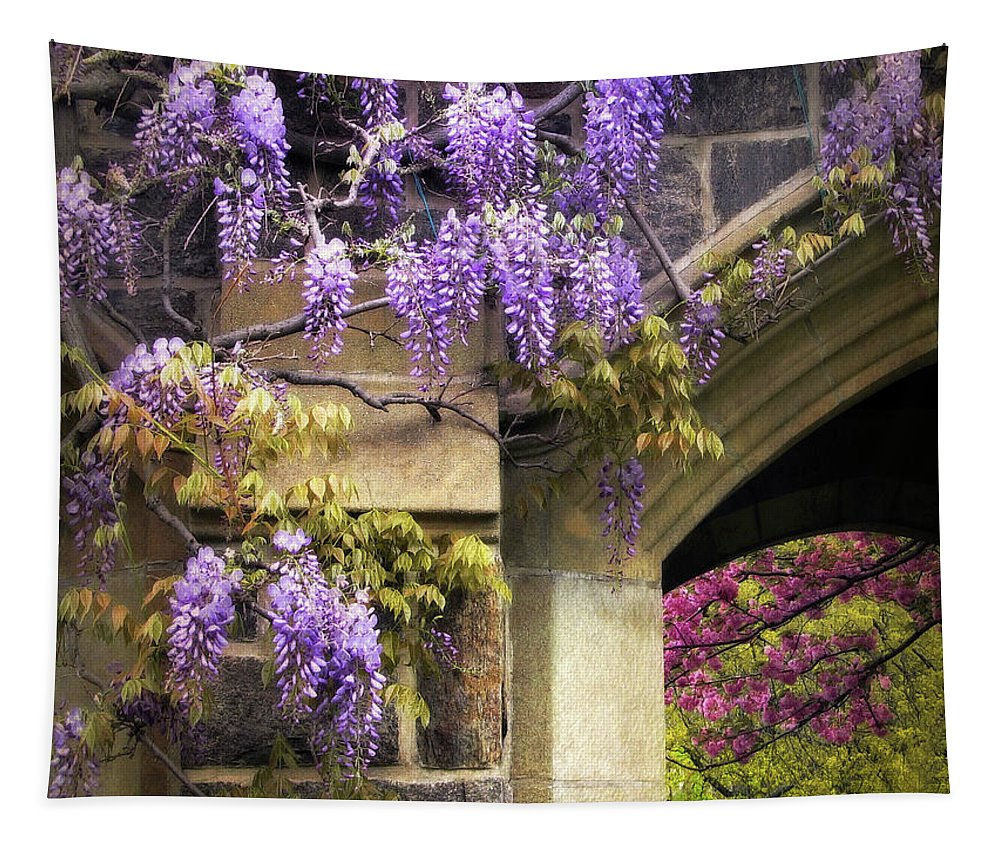 Flowers Tapestry featuring the photograph Wisteria Blossom by Jessica Jenney