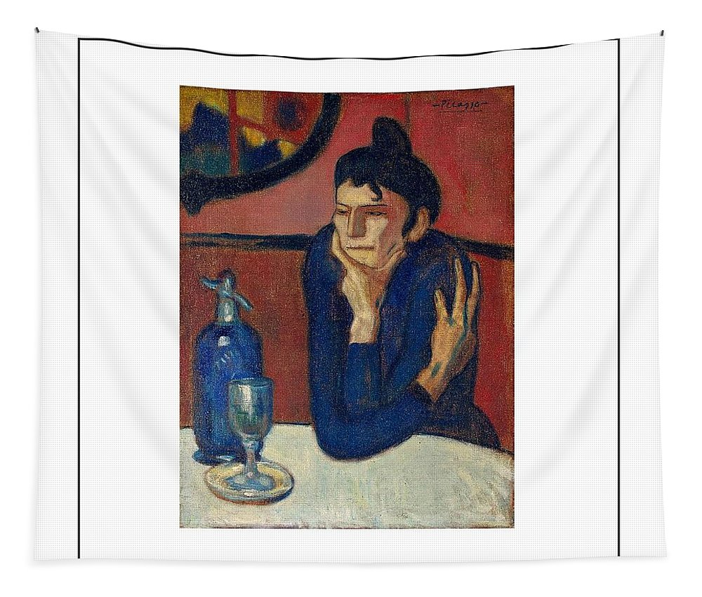 Pablo Picasso Tapestry featuring the painting Woman With Coffee Femme Au Cafe by Movie Poster Prints
