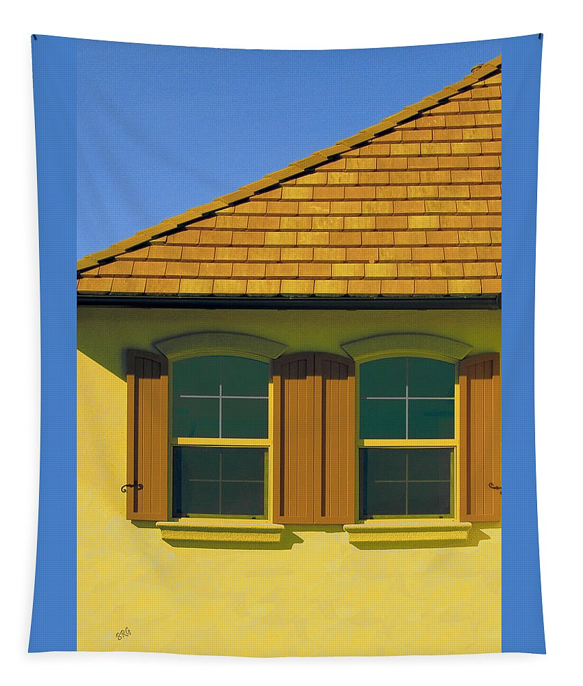 Window Tapestry featuring the photograph Woodbury Windows No 2 by Ben and Raisa Gertsberg