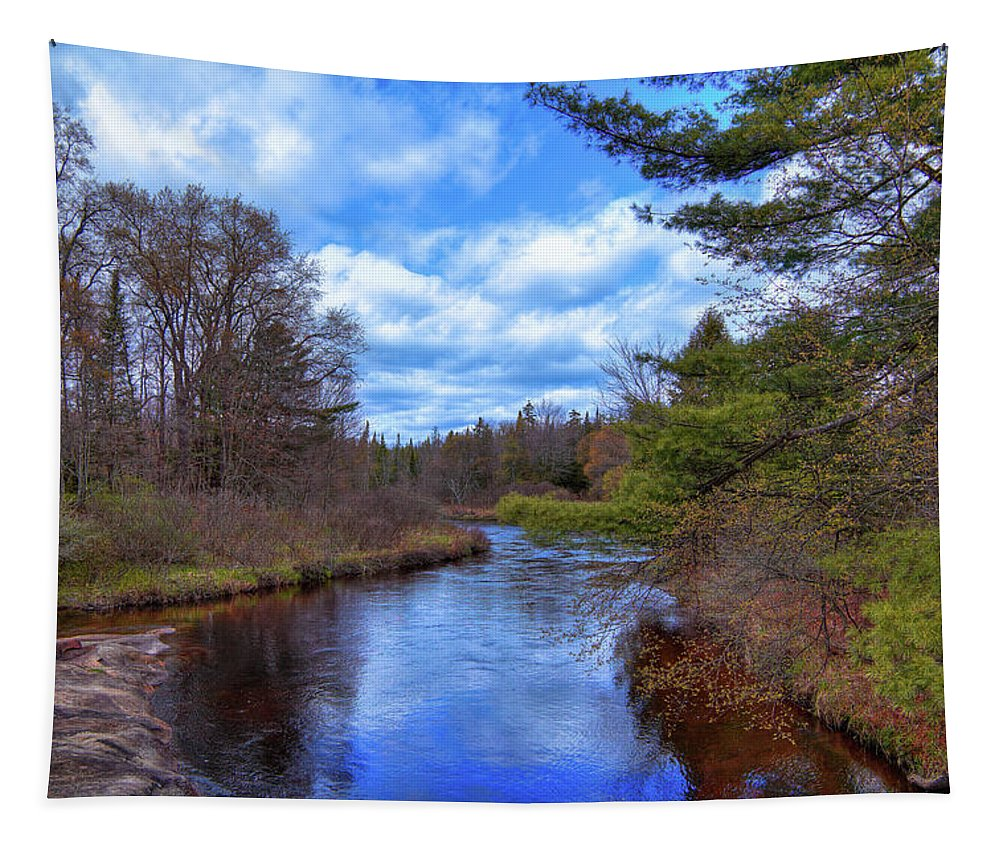 Woodhull Creek Tapestry featuring the photograph Woodhull Creek by David Patterson