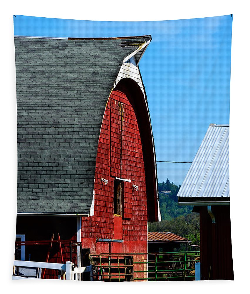Landscape Tapestry featuring the photograph Working Barn by Tikvah's Hope