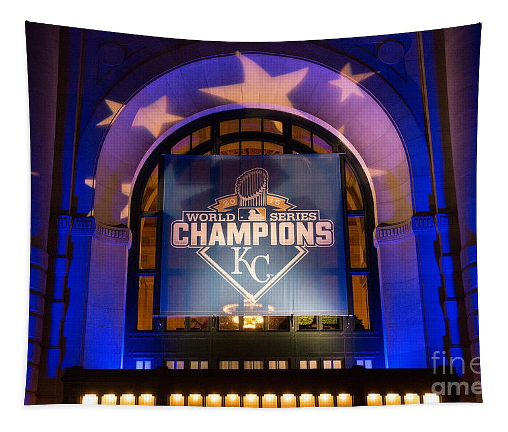 2015 Tapestry featuring the photograph World Series Champs by Lynn Sprowl