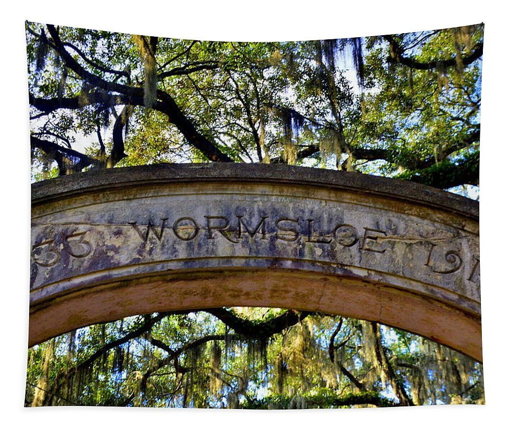 Wormsloe Historic Site Isle Of Hope Ga Tapestry featuring the photograph Wormsloe Plantation Isle Of Hope Ga 2 by Lisa Wooten