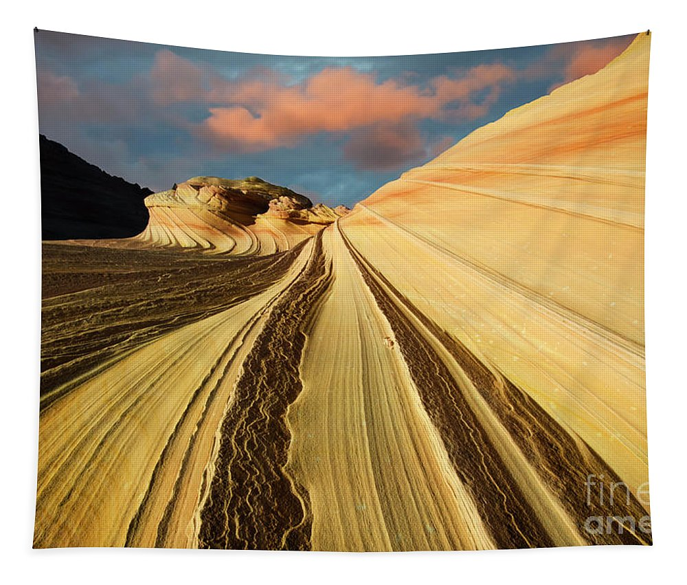 The Second Wave Tapestry featuring the photograph Written In Stone 4 by Bob Christopher
