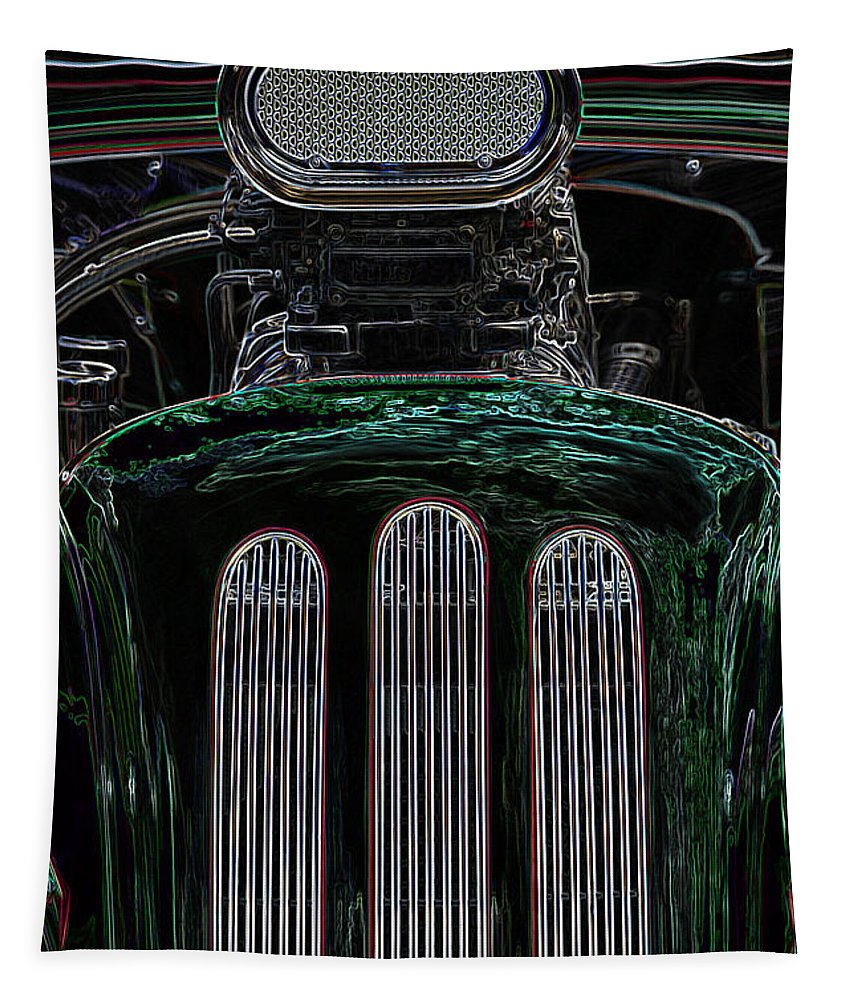 Wendy Tapestry featuring the digital art Hot Rod 3 by Wendy Wilton