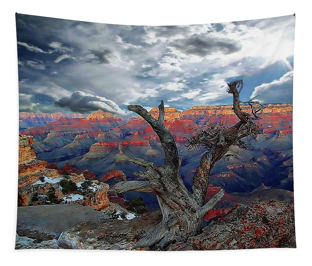 Amazing Tapestry featuring the photograph Yaki Point Grand Canyon by Anthony Dezenzio