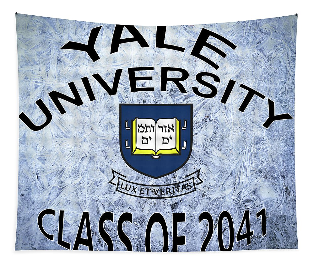Yale Tapestry featuring the digital art Yale University Class Of 2041 by Movie Poster Prints