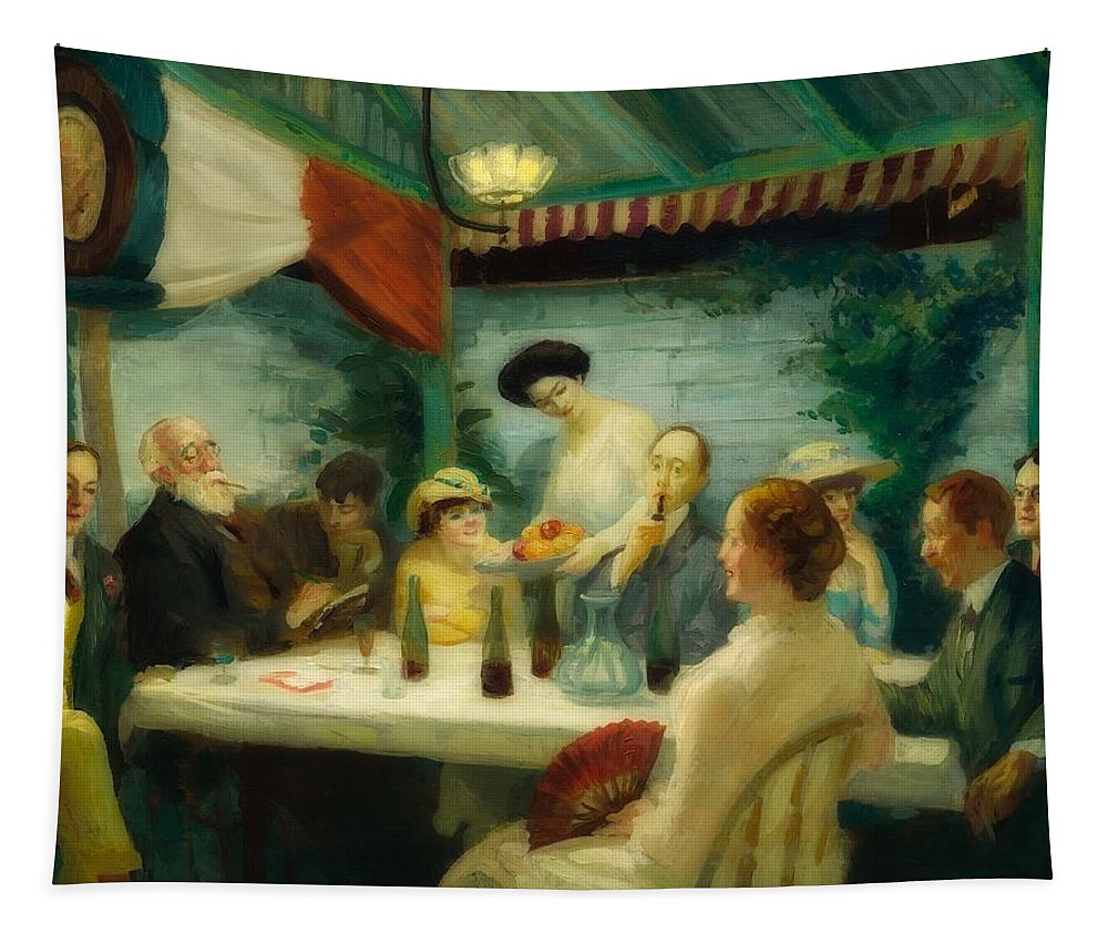 Art Tapestry featuring the painting Yeats At Petipas by John Sloan