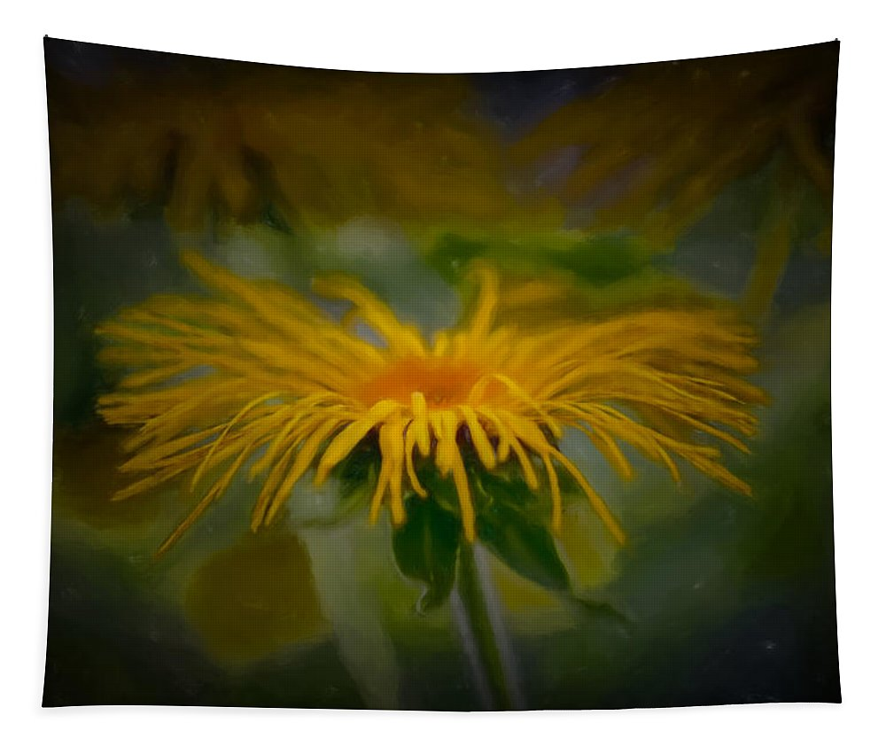 Artistic Tapestry featuring the photograph Yellow 2 by Leif Sohlman