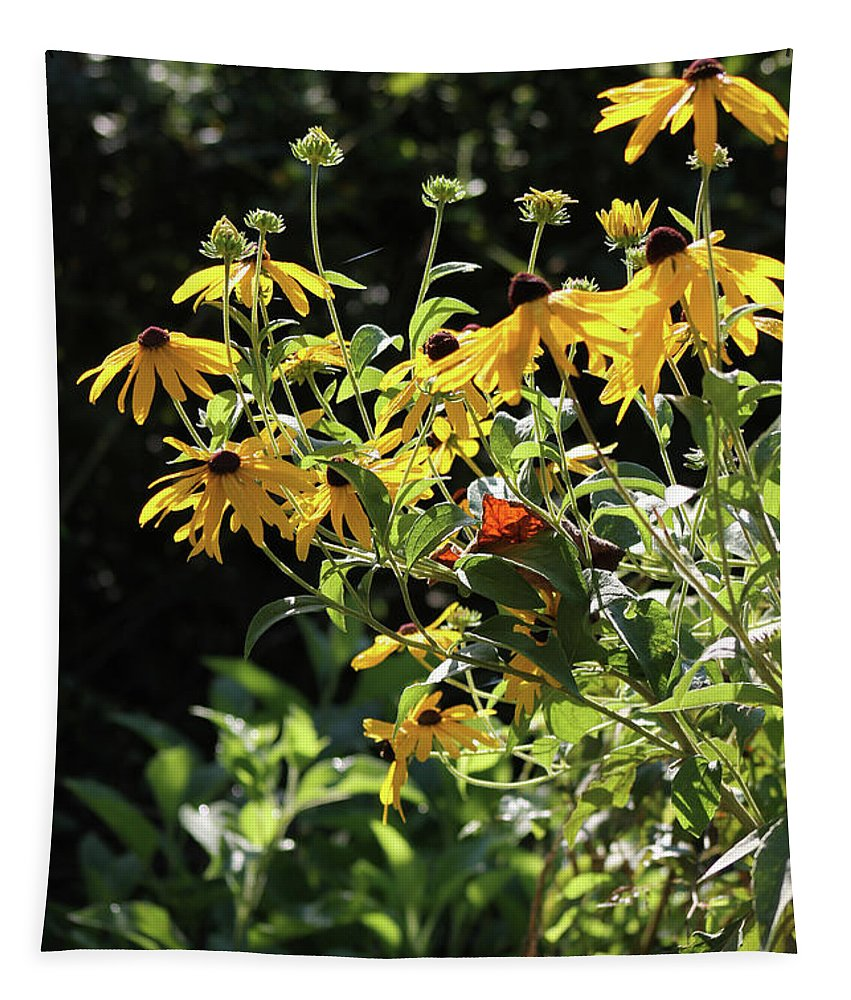 Yellow Tapestry featuring the photograph Yellow Daisies by Michael Munster