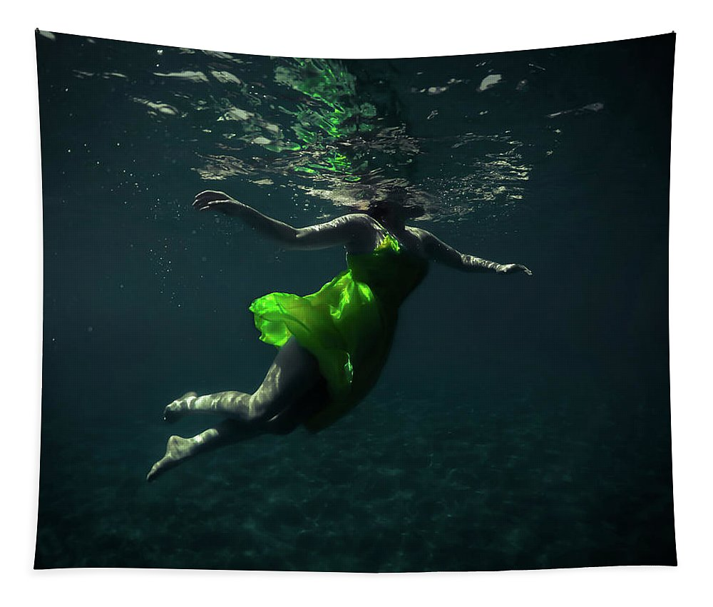 Underwater Tapestry featuring the photograph Yellow Dress by Nicklas Gustafsson
