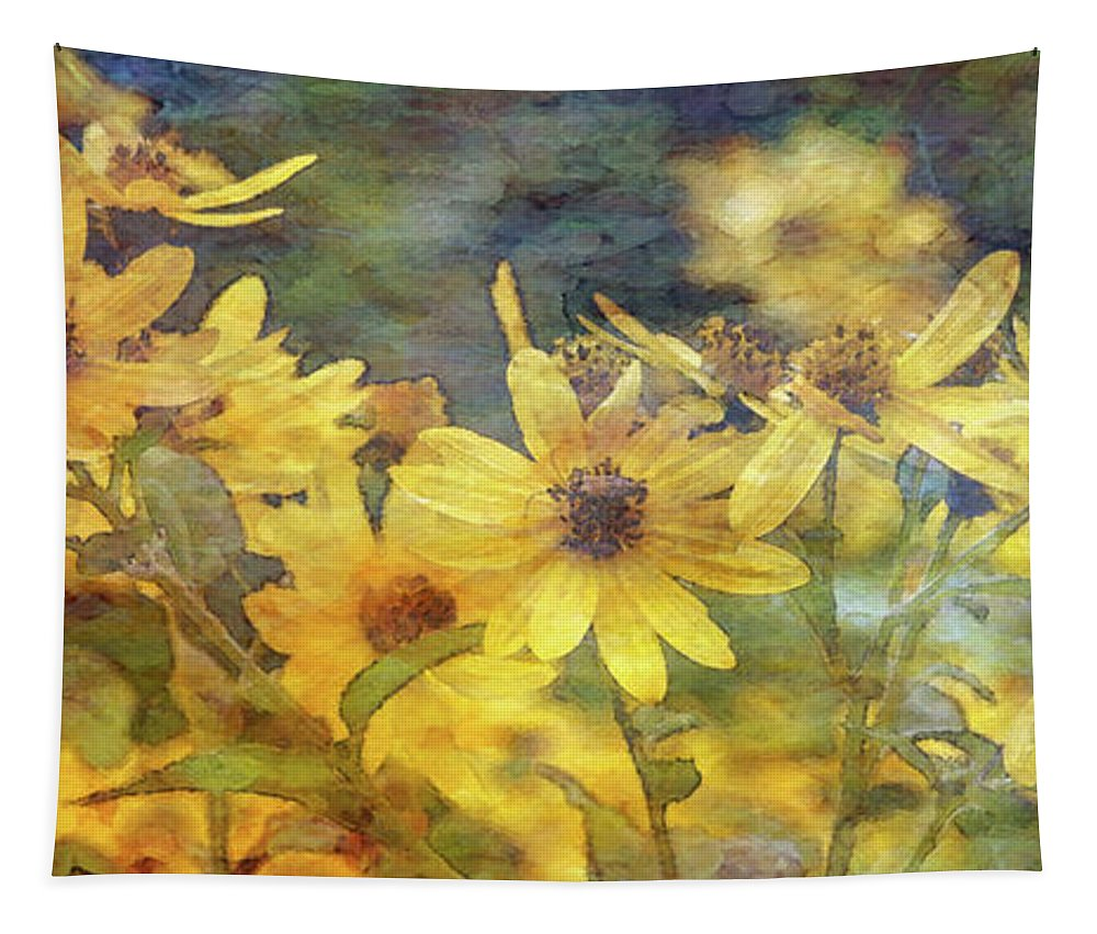 Yellow Flowers Tapestry featuring the photograph Yellow Flower View 4851 Idp_2 by Steven Ward
