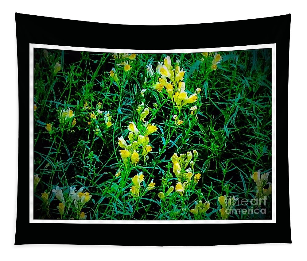 Nature Tapestry featuring the photograph Yellow Wild Flowers In Late Summer by Debra Lynch