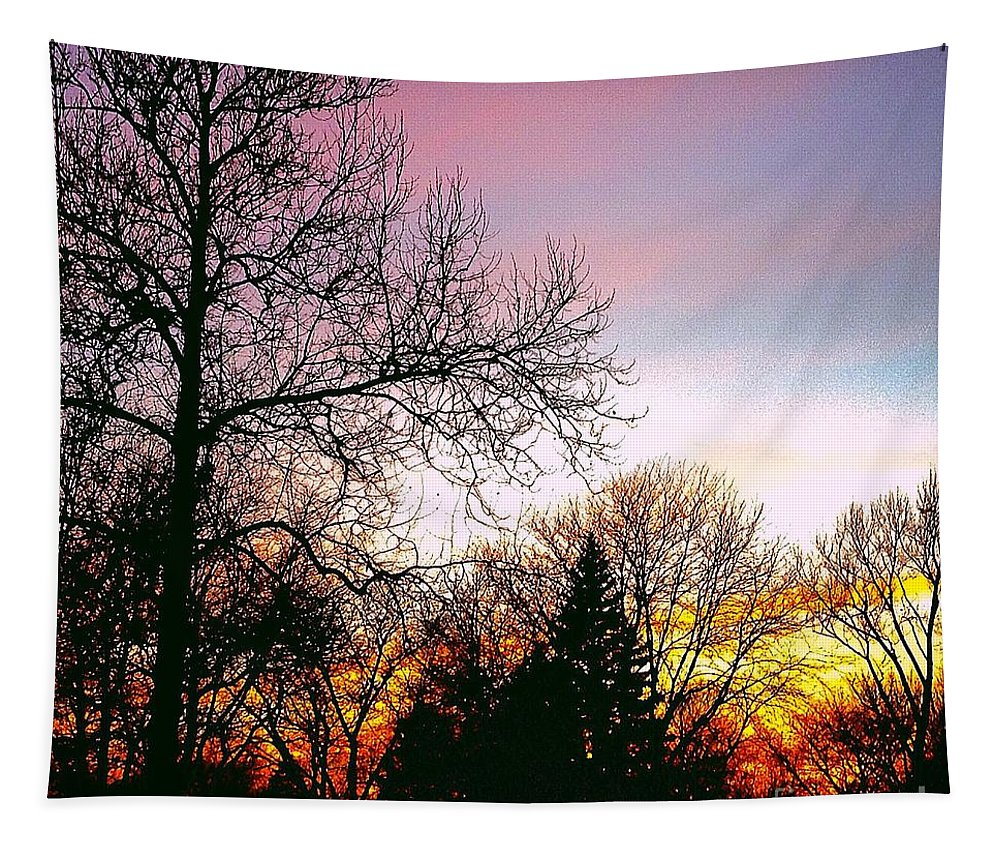 Frank J Casella Tapestry featuring the photograph Yesterday's Sky by Frank J Casella