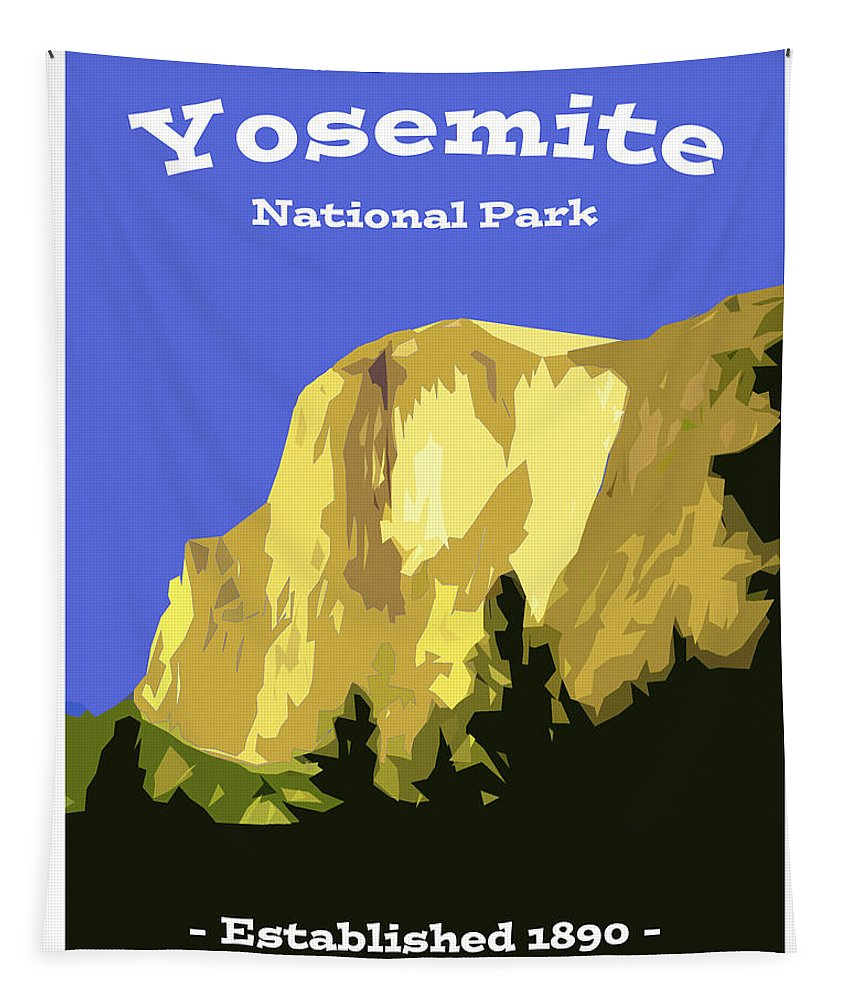 Yosemite Tapestry featuring the digital art Yosemite Poster by Bruce