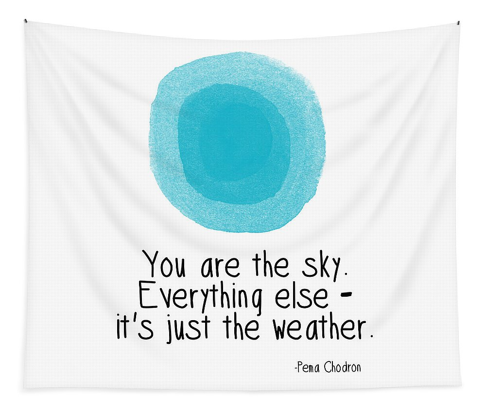 Sky Tapestry featuring the digital art You Are The Sky by Linda Woods