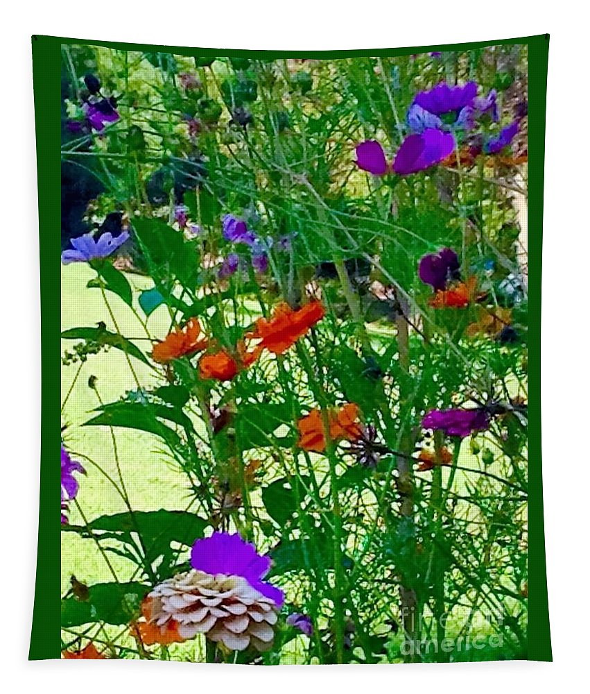 Flowers Tapestry featuring the photograph You Awaken My Senses by Debra Lynch