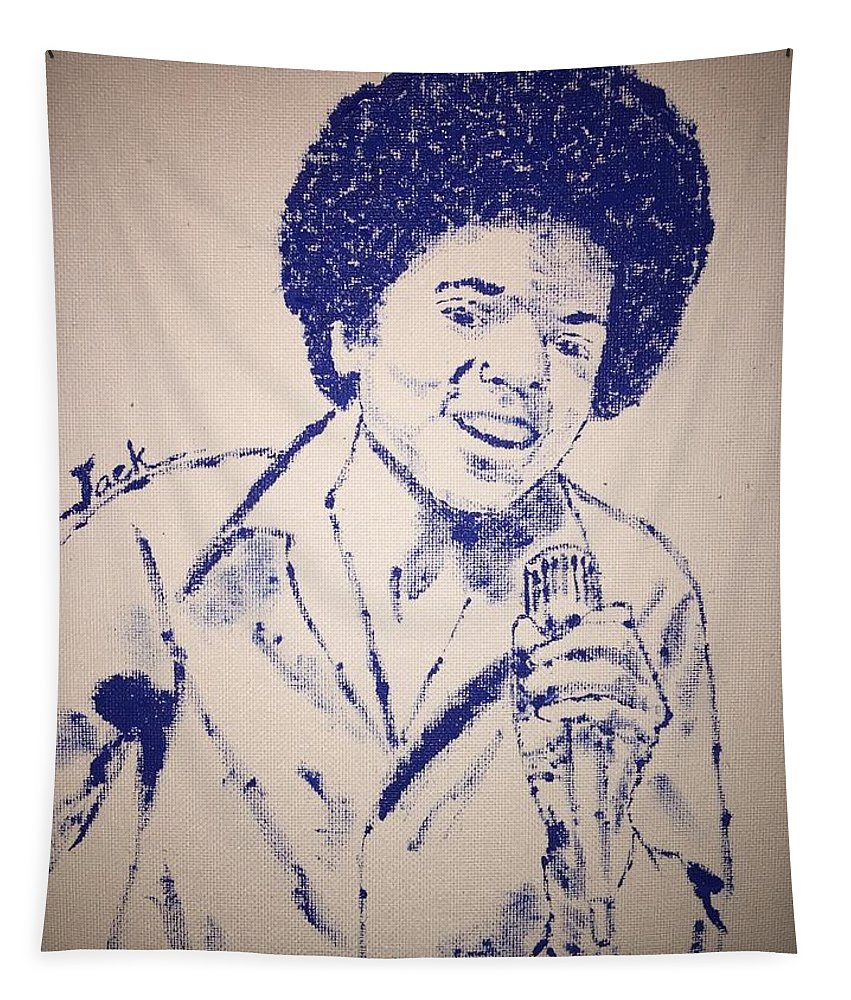 Michael Jackson Tapestry featuring the painting Young Michael Jackson by Jack Bunds
