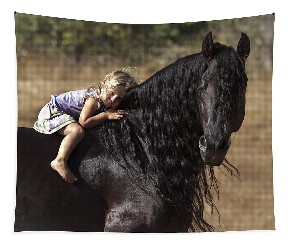 Young Rider Tapestry featuring the photograph Young Rider by Wes and Dotty Weber