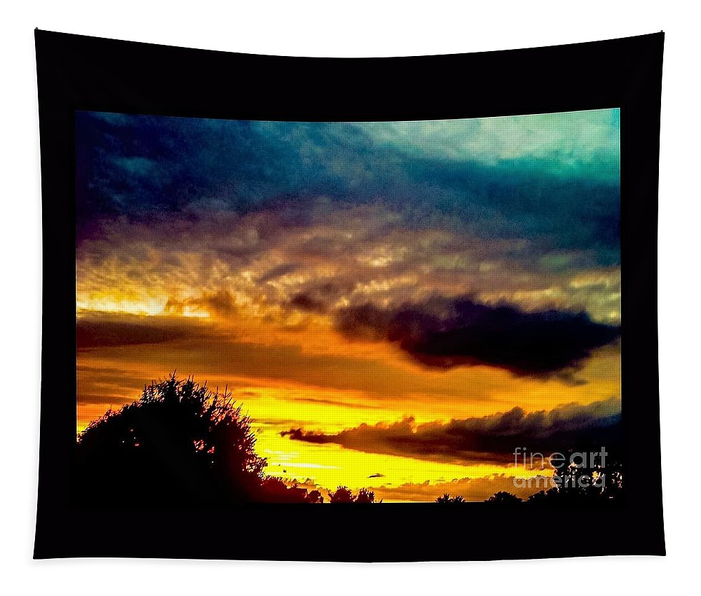 Sunset Tapestry featuring the photograph Your Are The Sunshine Of My Life by Debra Lynch