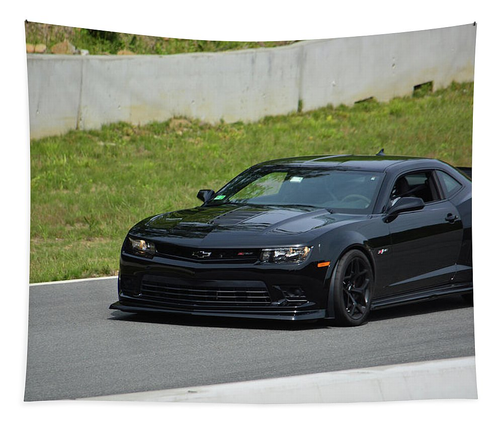 Chevy Tapestry featuring the photograph Z28 Camaro by Mike Martin