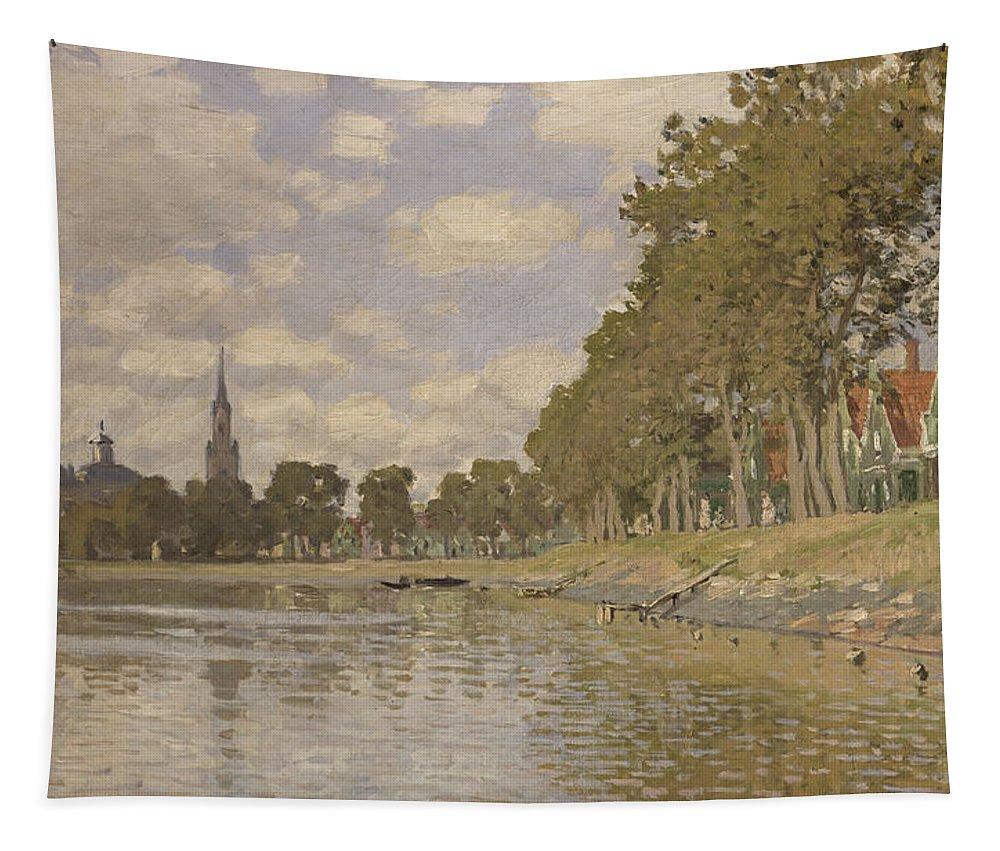 Zaandam Tapestry featuring the painting Zaandam by Claude Monet