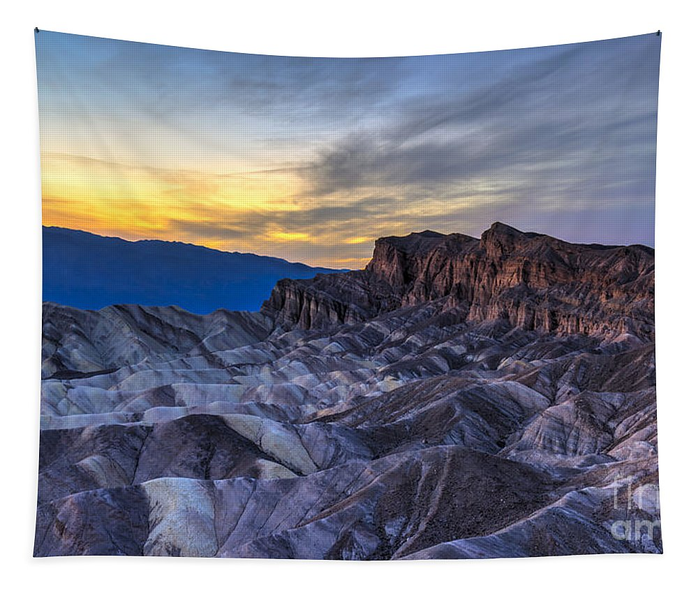 Adventure Tapestry featuring the photograph Zabriskie Point Sunset by Charles Dobbs