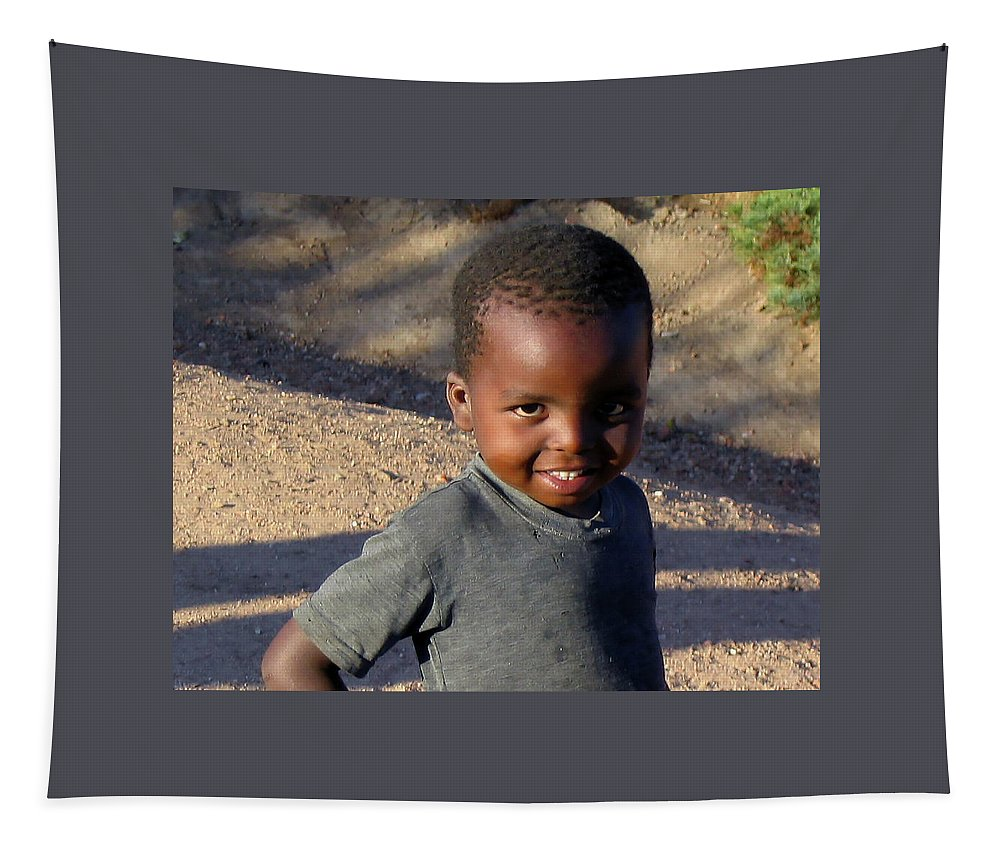 Child Tapestry featuring the photograph Zimbabwe Warmth by Terry Davis