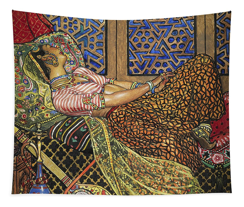 Zira Tapestry featuring the painting Zira In Captivity by John Byam Liston Shaw