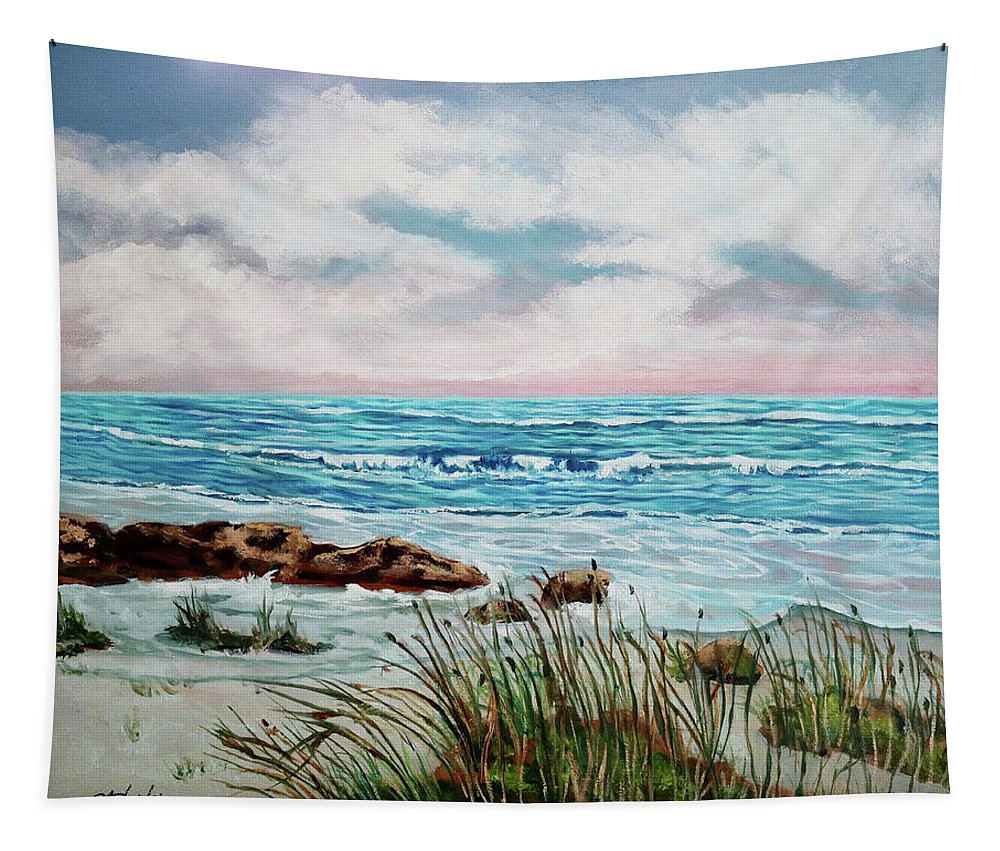 Oil Painting Tapestry featuring the painting A Morning View by Carole Sluski