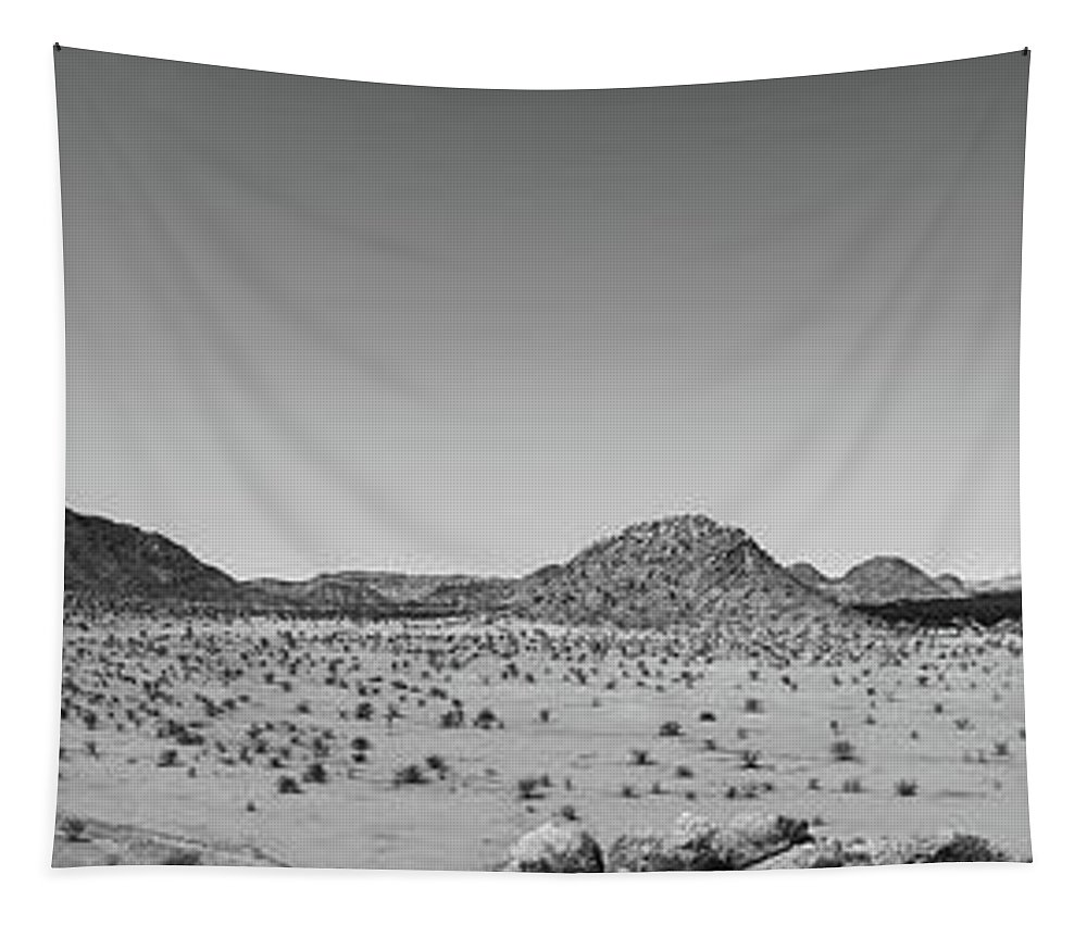 Africa Tapestry featuring the photograph African Desert Panorama by Pixabay