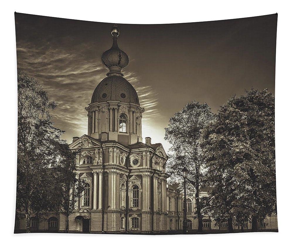 Smolny Monastery Tapestry featuring the photograph Beautiful Smolny Monastery by Pixabay