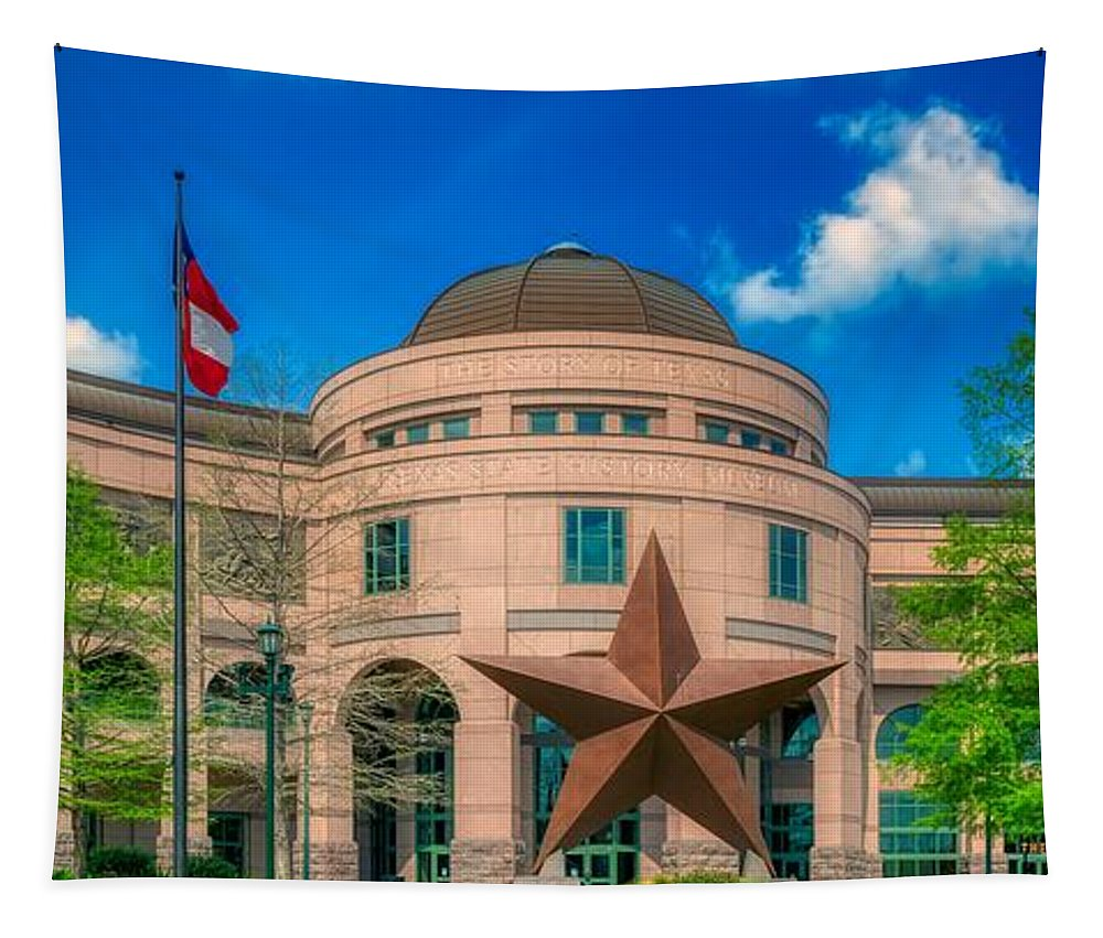 Bullock Texas State History Museum Tapestry featuring the photograph Bullock Texas State History Museum by Mountain Dreams