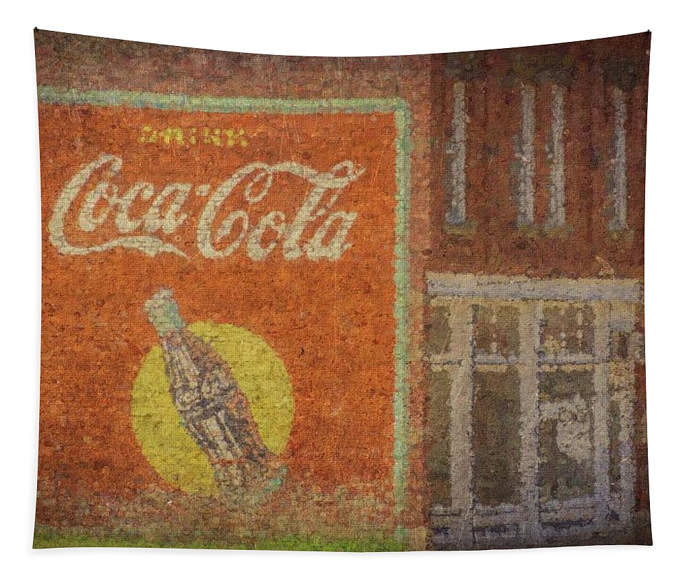 Coke Tapestry featuring the mixed media Drink Coca Cola by Tim Leimkuhler
