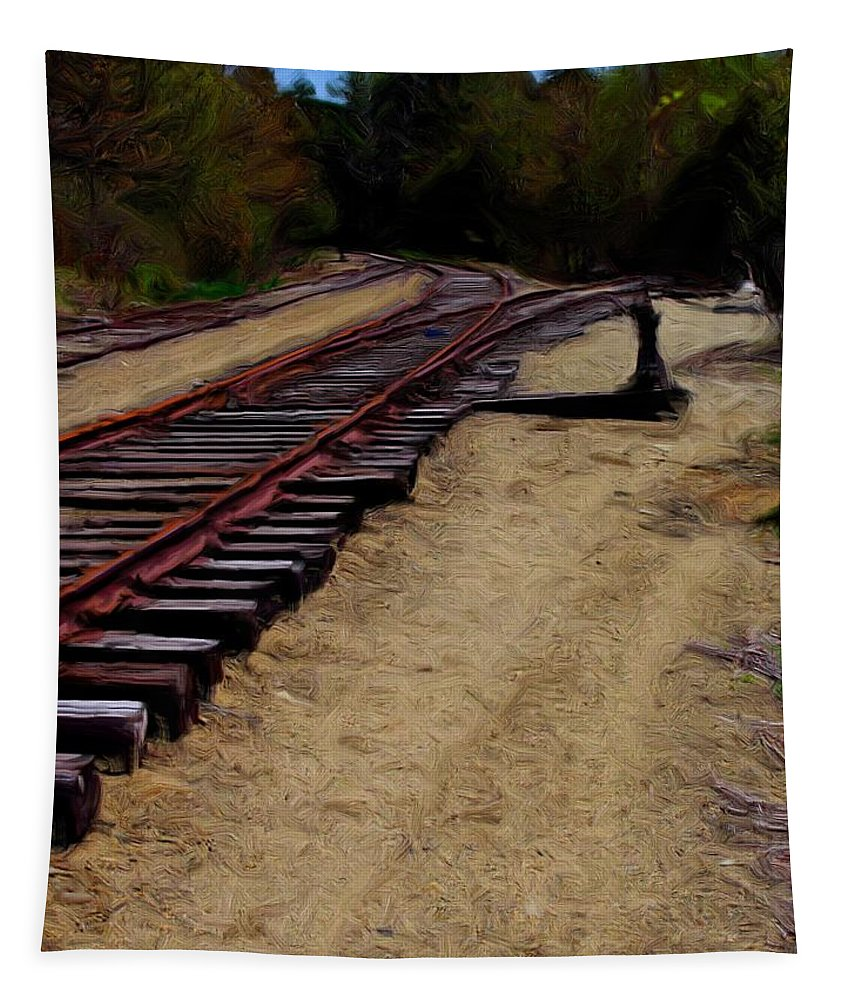 Transportation Tapestry featuring the photograph Ellsworth Tracks by Robert McCulloch