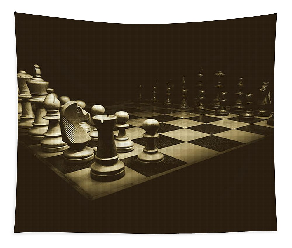 Chess Tapestry featuring the photograph Game Of Kings by Pixabay