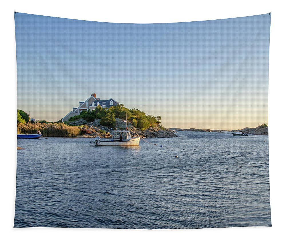 Goose Tapestry featuring the photograph Goose Neck Cove - Newport Rhode Island by Bill Cannon