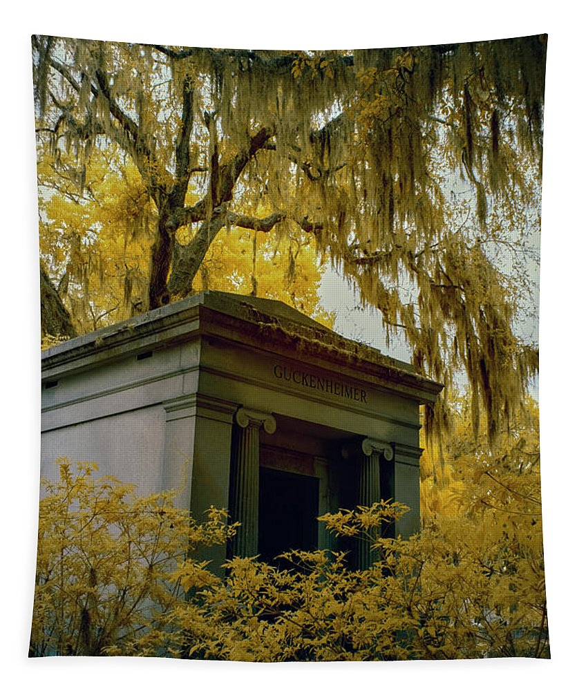 Cemetary Tapestry featuring the photograph Mausoleum In Georgia by Jon Glaser