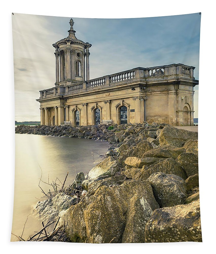 Ancient History Tapestry featuring the digital art Normanton Church Museum by Dariusz Stec