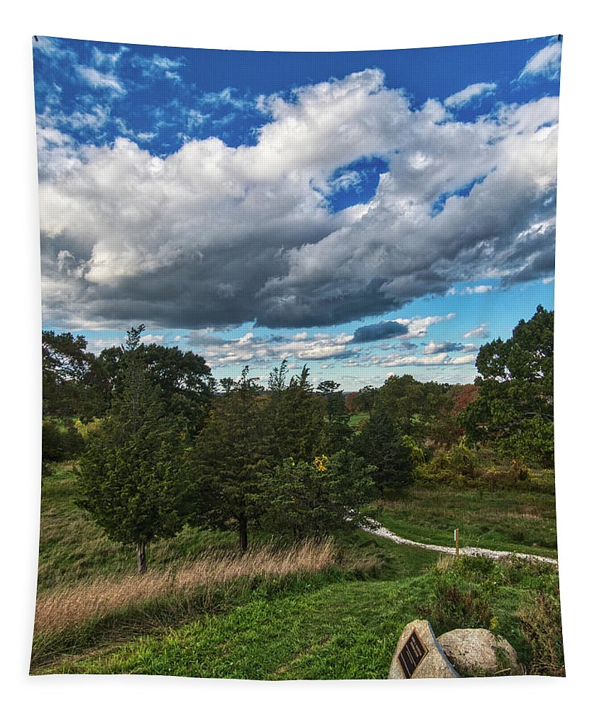 Trail Tapestry featuring the photograph Sagamore Hill by Scott Hufford