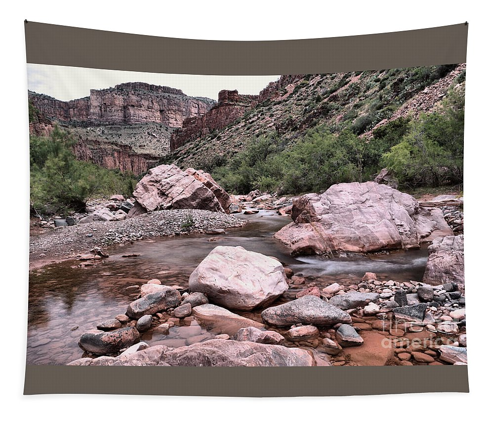 Landscape Tapestry featuring the photograph Salt River Canyon Arizona by Jeff Swan